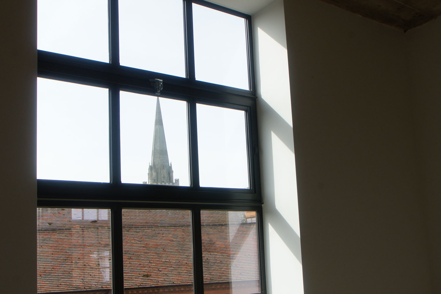 First floor window lookout to spire