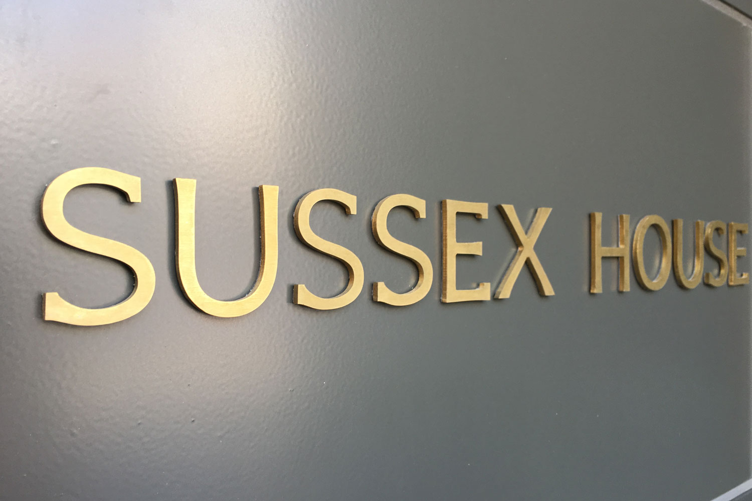 Sussex House sign